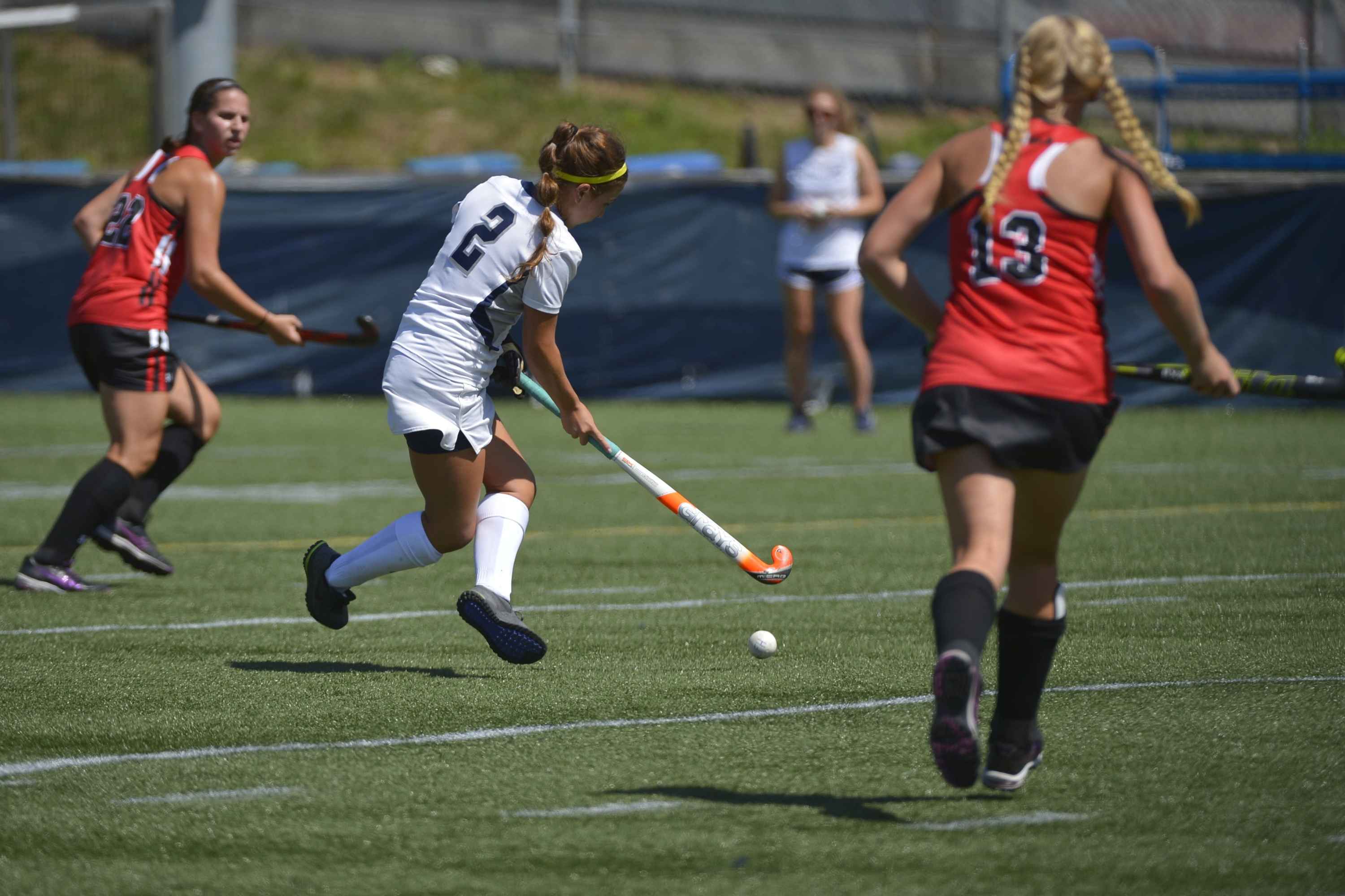 Sophomore Megan Parsons  secured her first goal of the season off an assistnt from Devin Holmes.