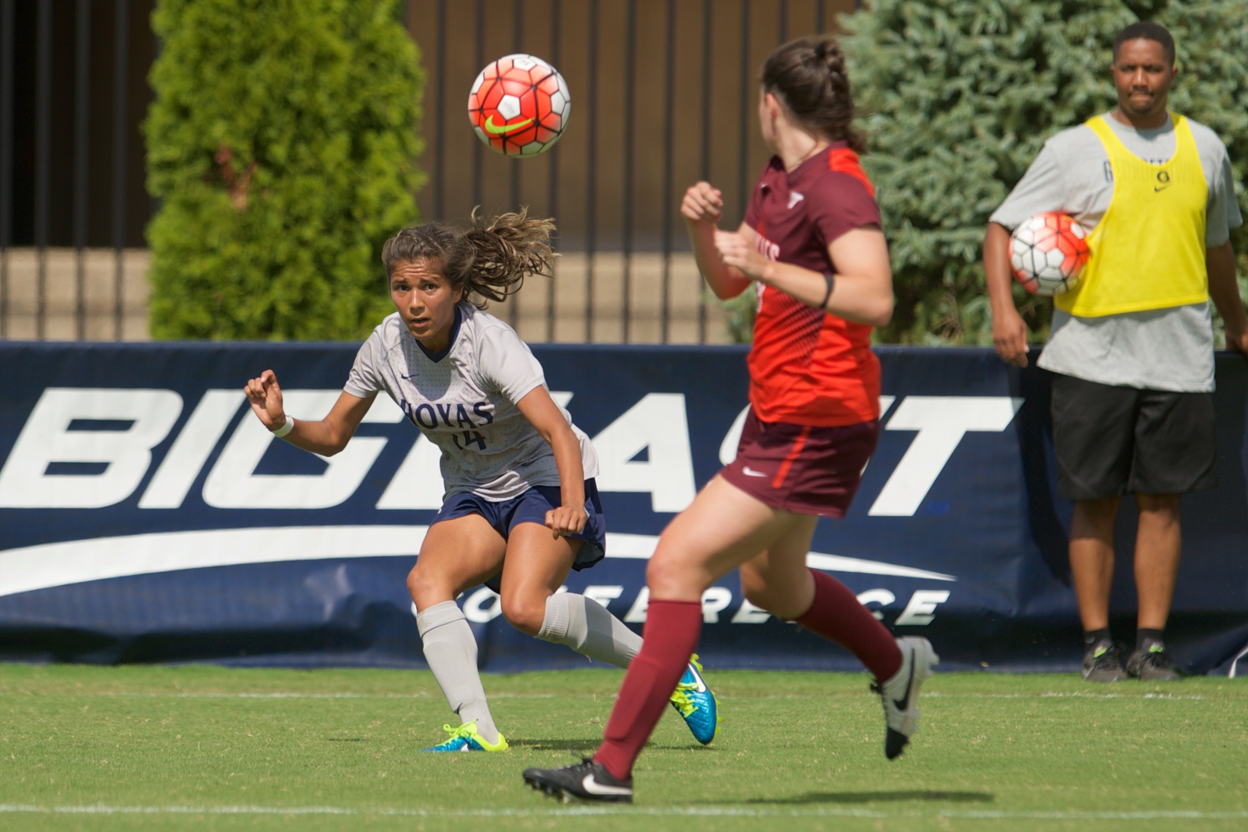 The Georgetown University women's soccer team begins BIG EAST Conference play this weekend, playing at Providence, on Sunday, Sept. 27.  The game kicks off at 1 p.m.