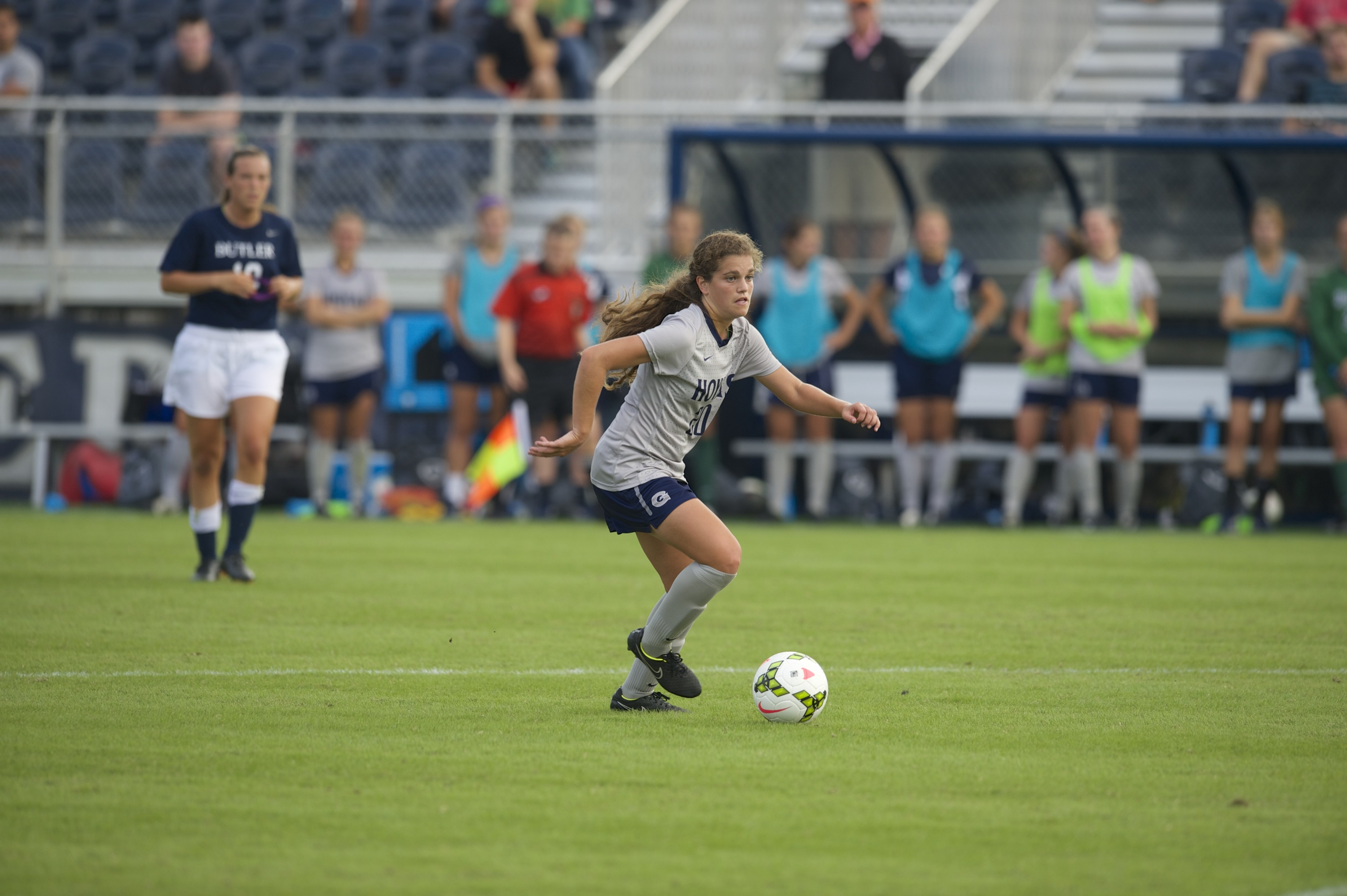 Rachel Corboz scored a pair of goals in Georgetown's 2-1 double overtime win at Providence on Sunday.