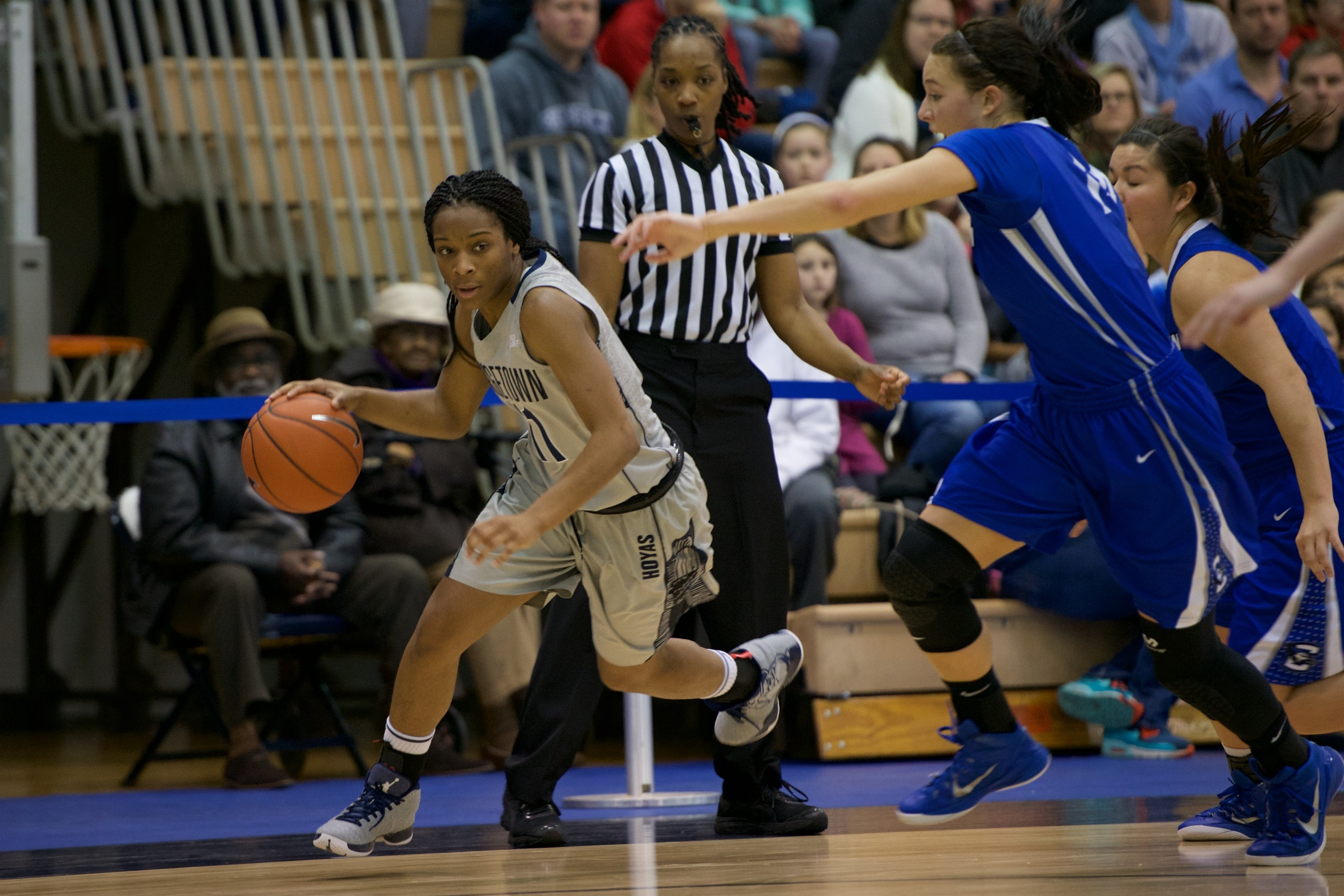 Dionna White led three Hoyas in double figures, tying a career high with 22 points