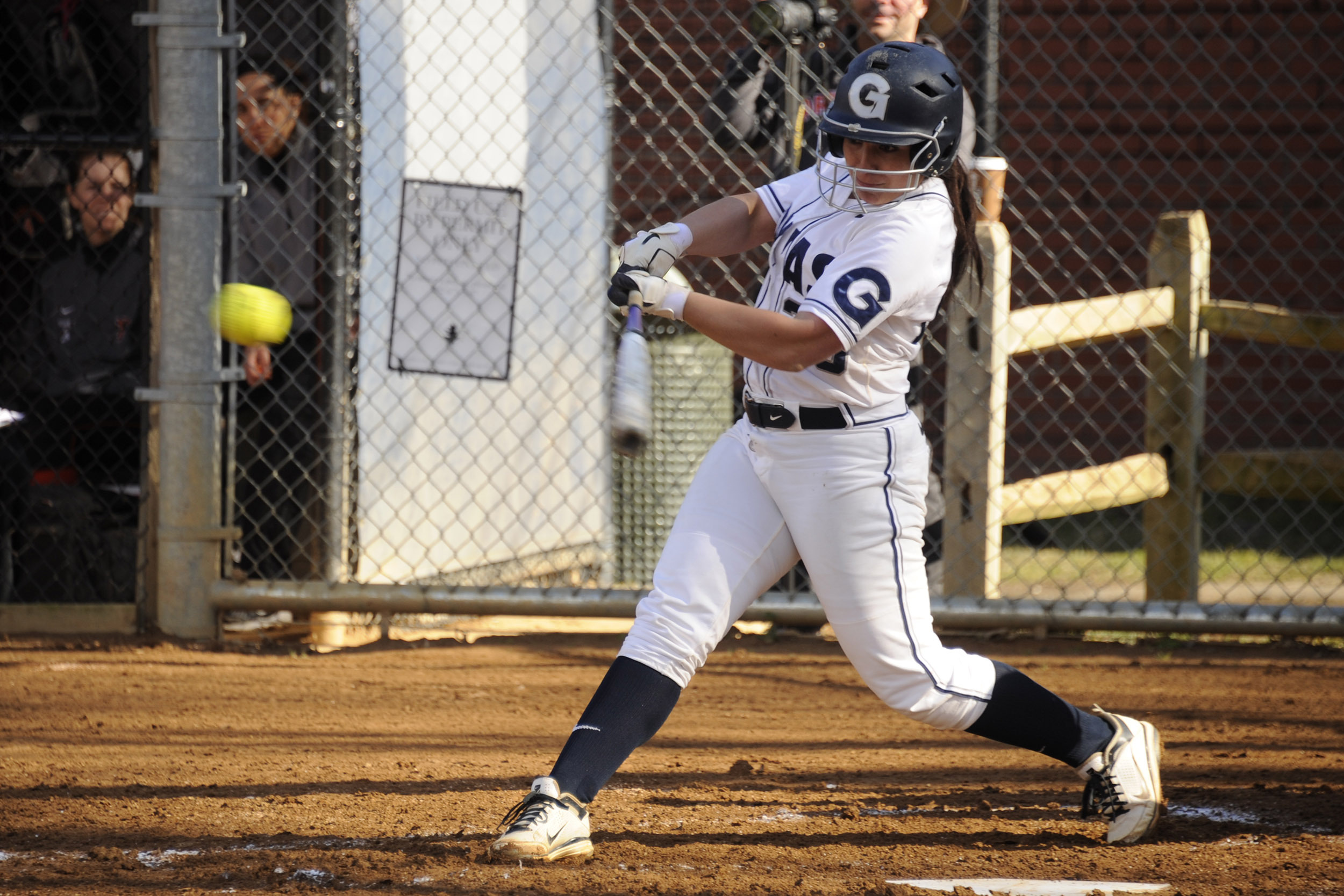 Samantha Giovanniello hit a grand slam to help the Hoyas salvage a split in the BIG EAST series.