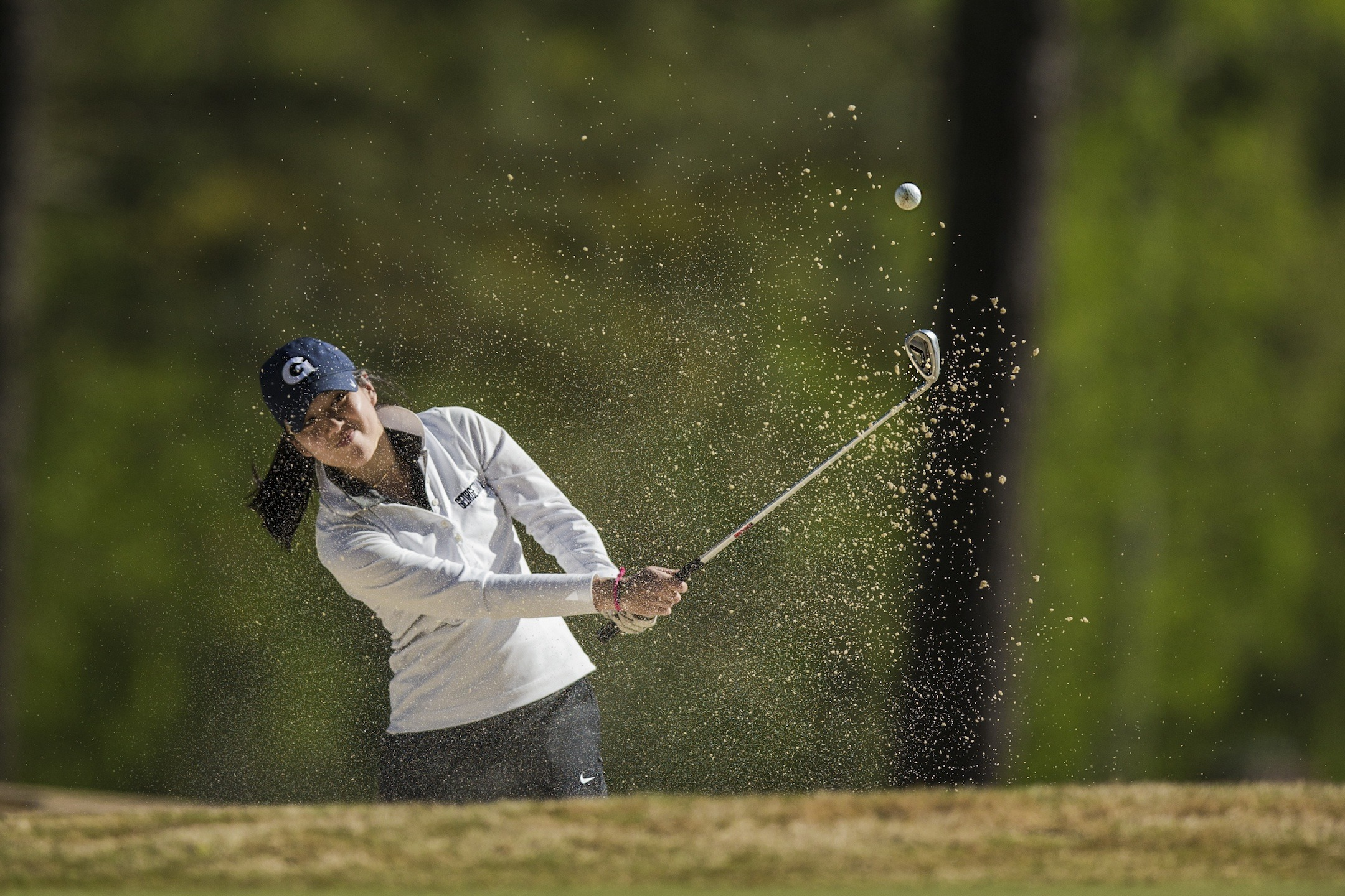 The Georgetown University women's golf team posted a 53-over par 629 over 36 holes and stands in 12th place among 12 teams at the Henssler Financial Intercollegiate, being hosted by Kennesaw State University at Pinetree Country Club in Georgia on Monday.