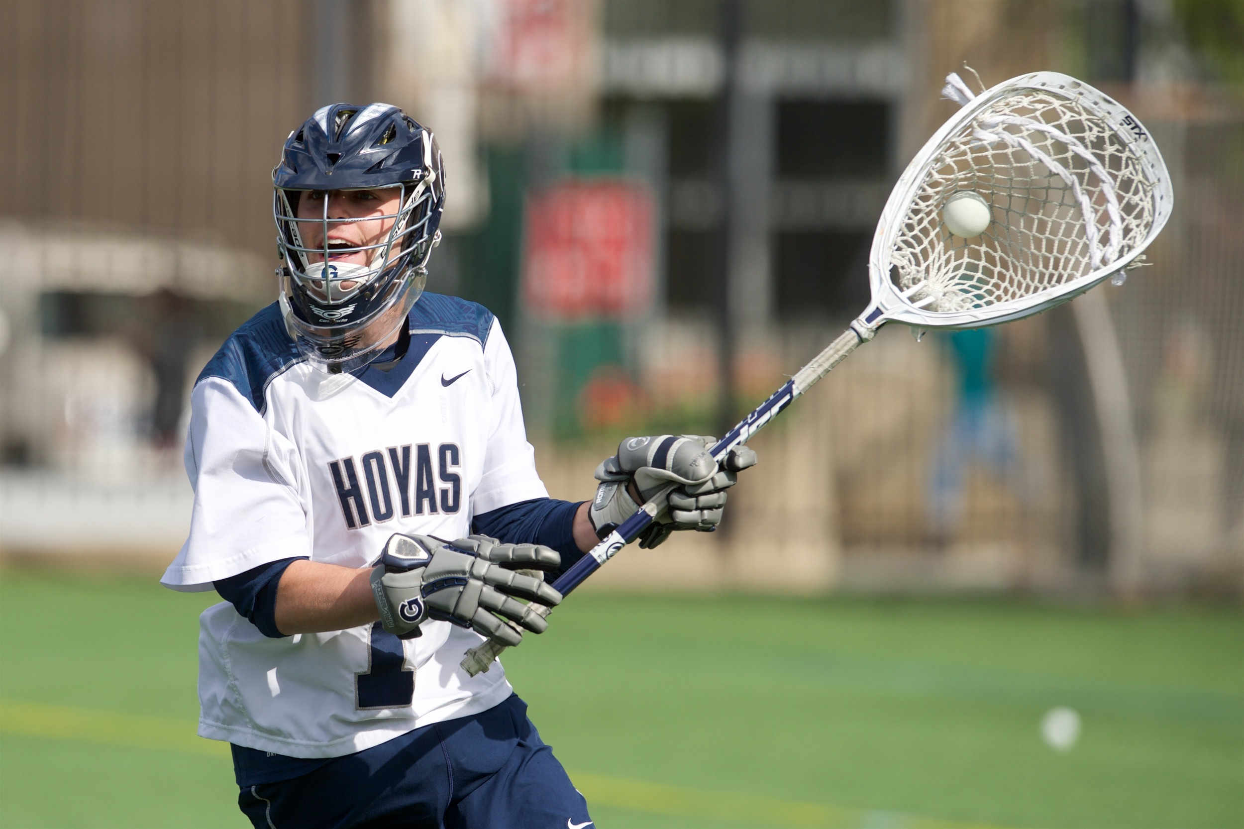 Nick Marrocco made 14 saves and allowed five goals in GU's win over Providence.