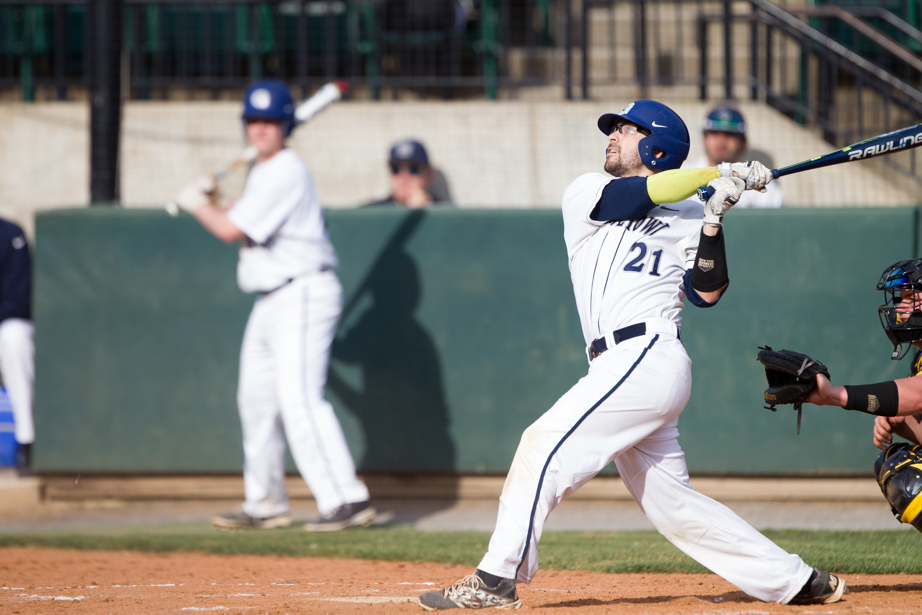 Eric Webber was on base four times for Georgetown