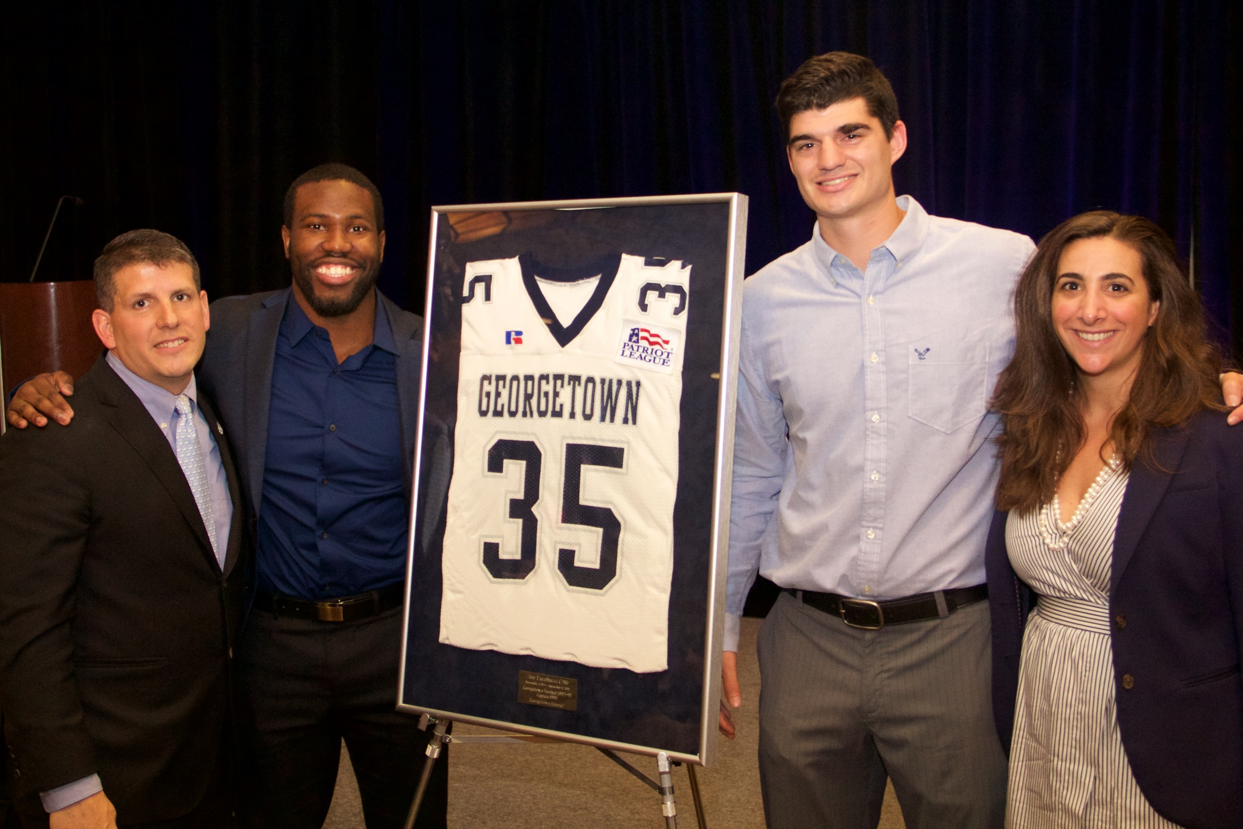 Tim Barnes was named the No. 35 Joe Eacobacci Memorial jersey recipient during Saturday's banquet.