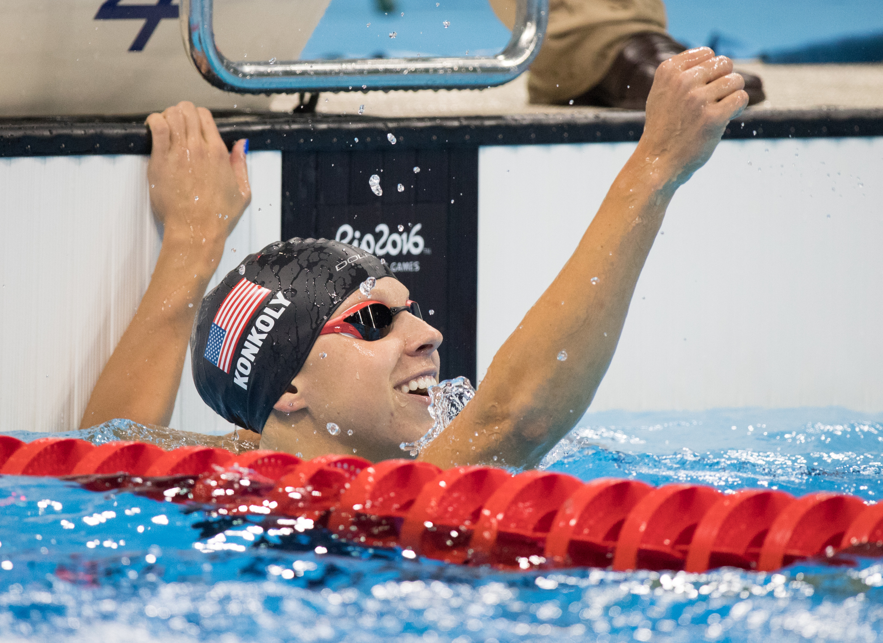 Konkoly set the S9 world record in the 100-meter freestyle on Monday in Rio.
