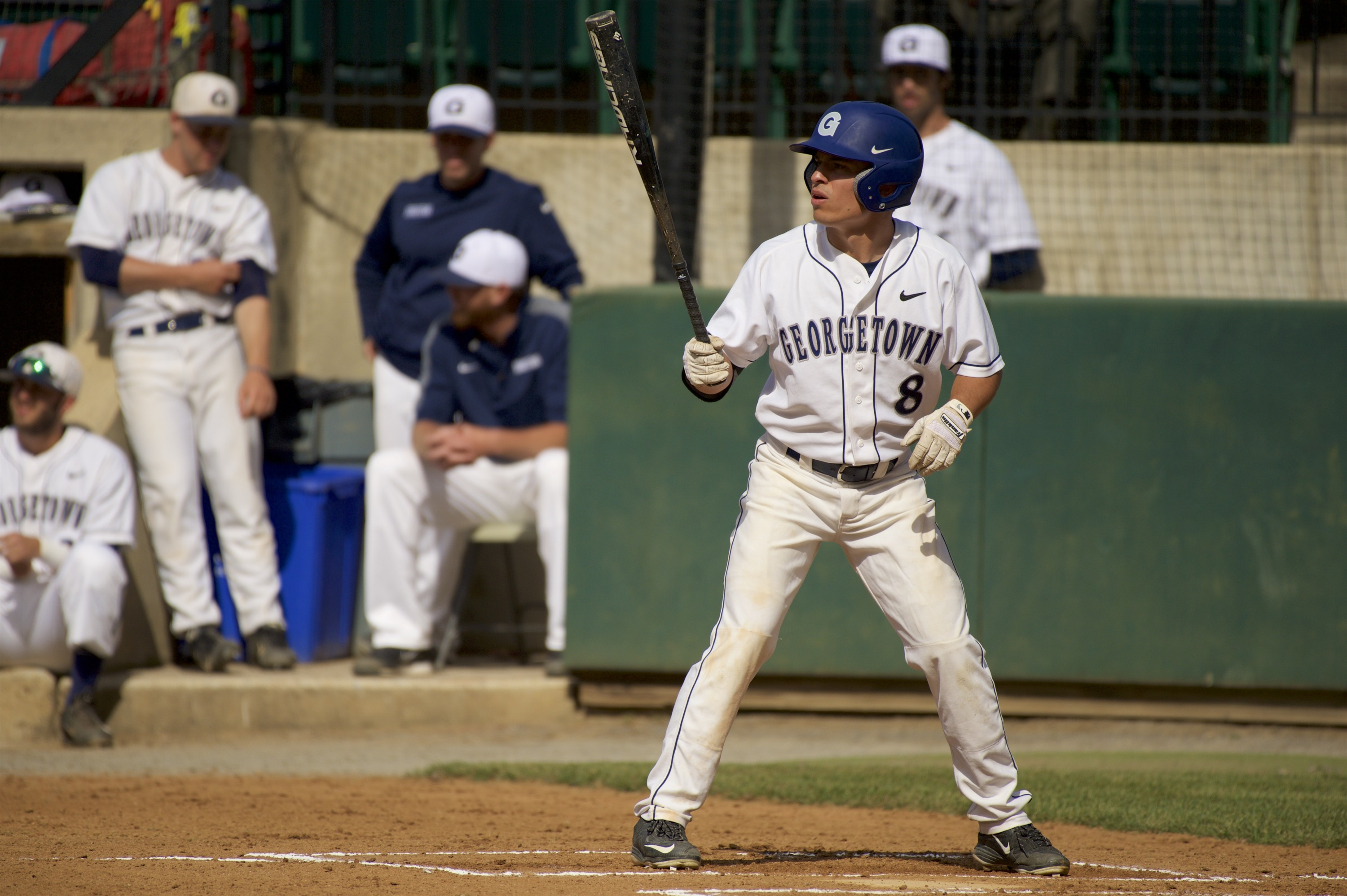 Austin Shirley had one of Georgetown's three hits.