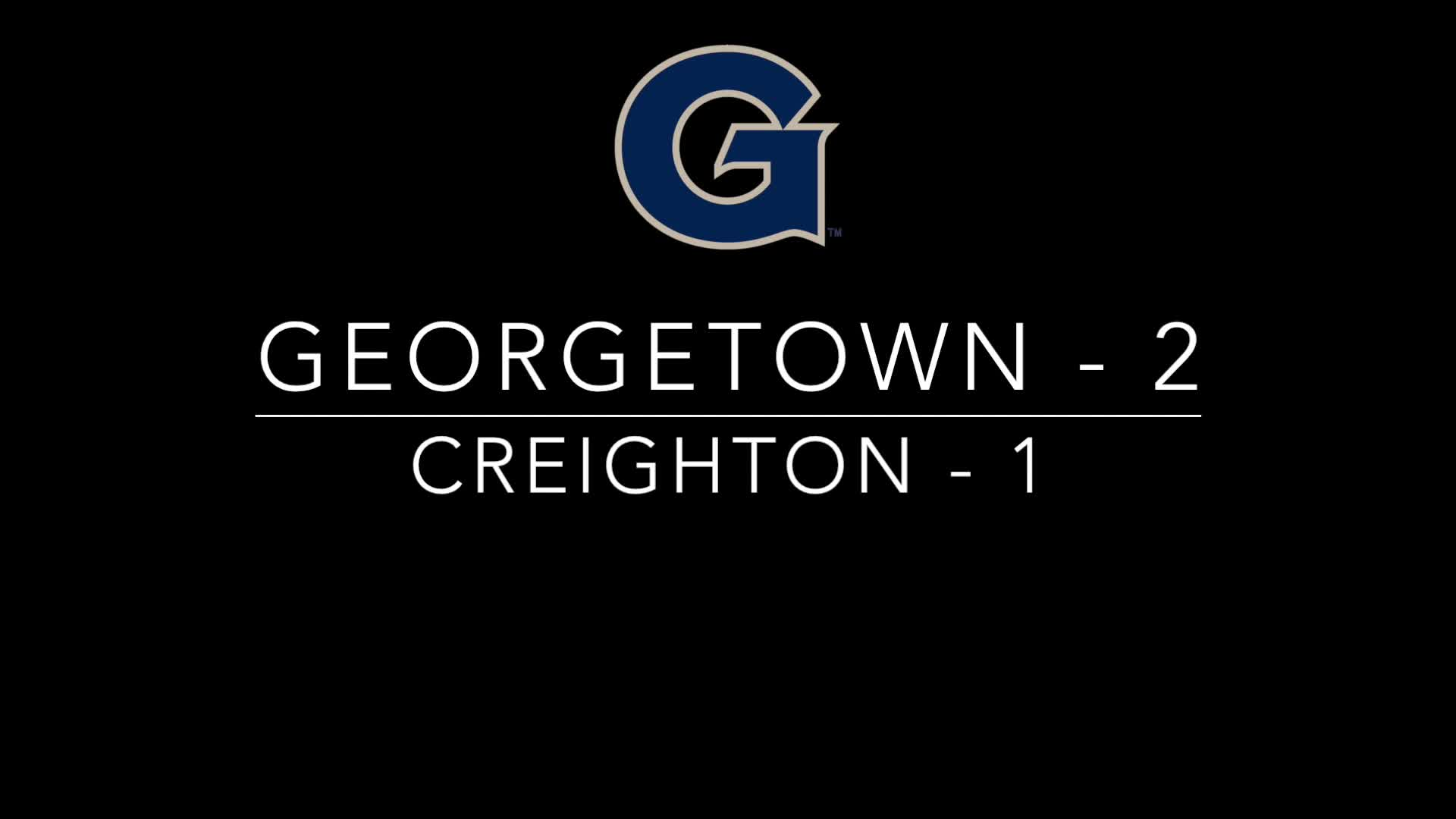 Georgetown vs. Creighton