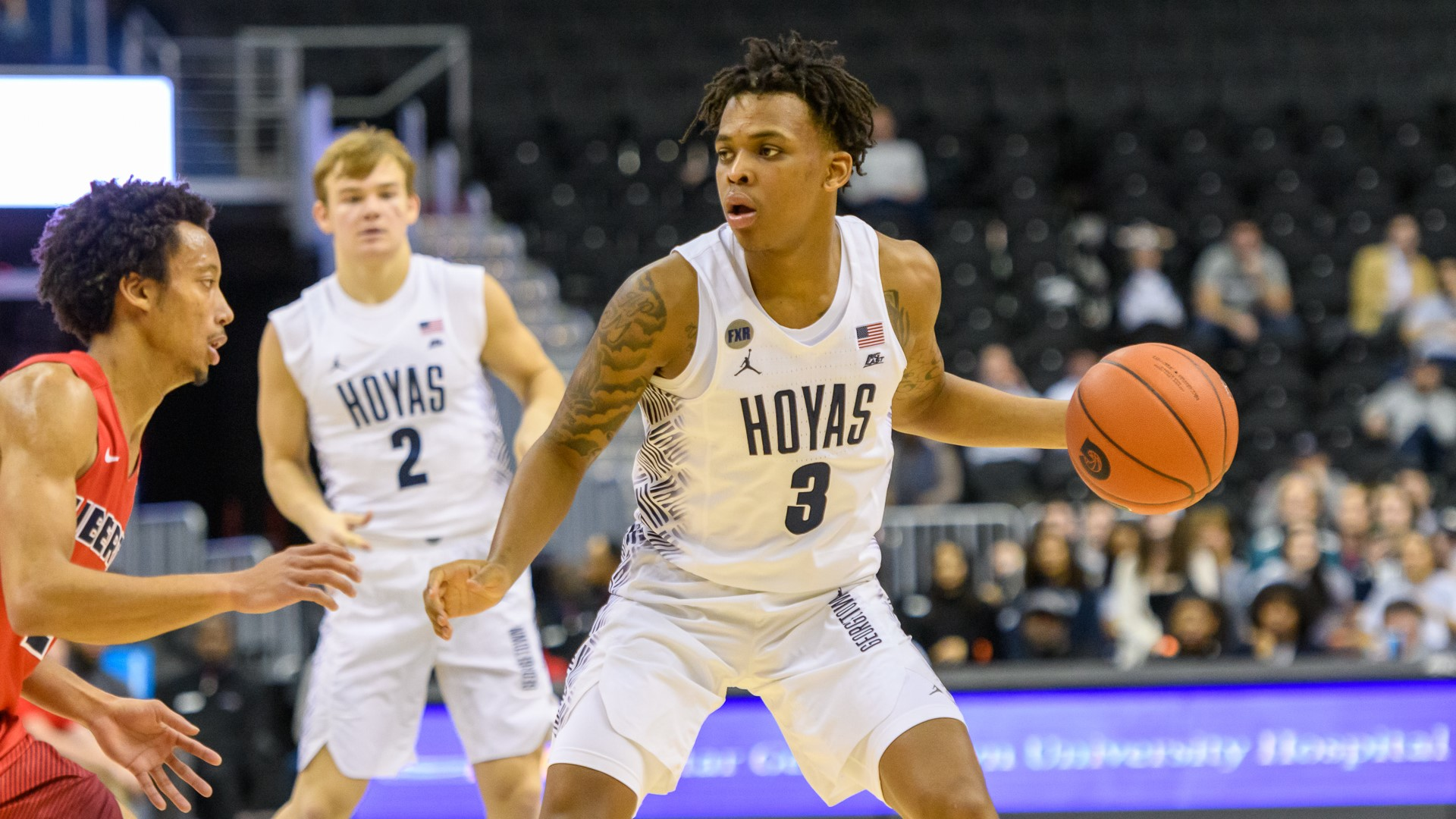 Akinjo, Govan and McClung Tally Double Figures as Hoyas Defeat Liberty 88-78 - Georgetown ...