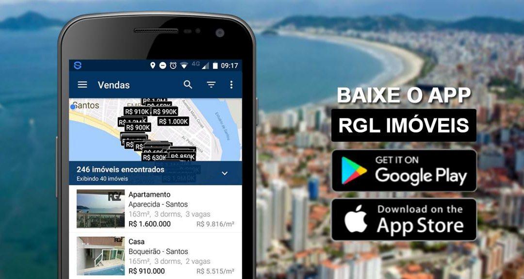 Aplicativo RGL para aluguel e venda de imóveis
