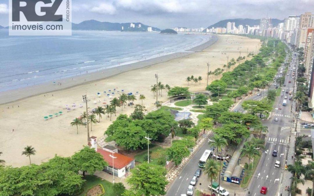 apartamento de frente à praia em Santos