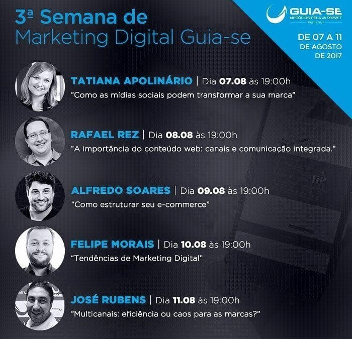 Franquia realiza 3ª Semana de Marketing Digital Guia-se