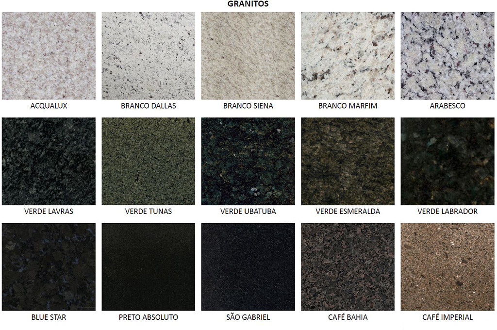 Msr pedras decorativas m rmores pedras e granitos de for Tipos de granitos