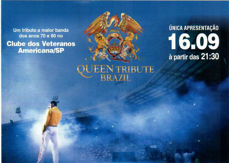 QUEEN TRIBUTE BRAZIL – 16 DE SETEMBRO