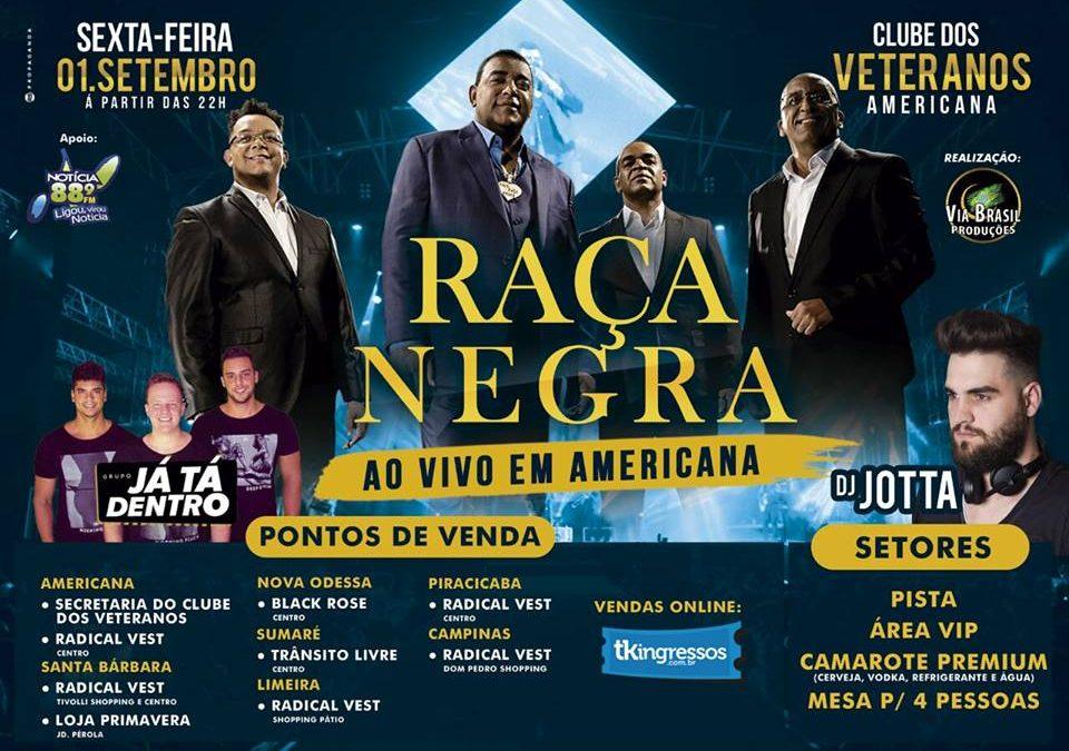 RAÇA NEGRA NO CLUBE VETERANOS! 01/SET