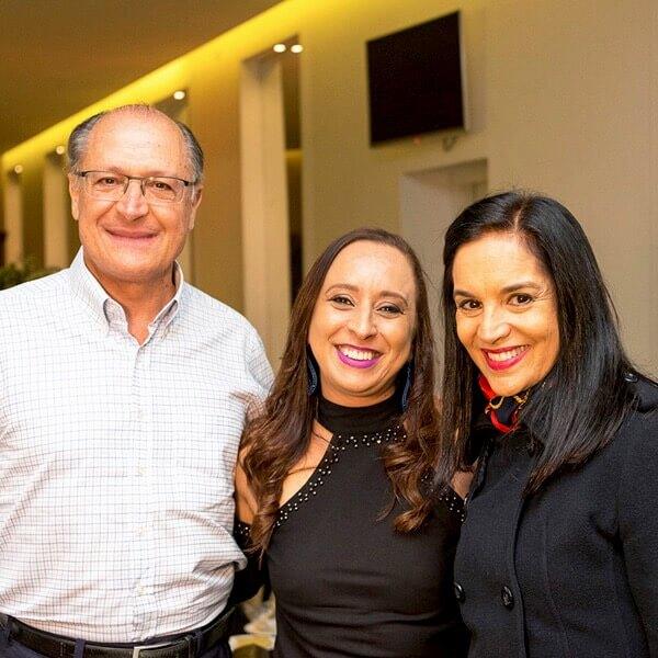 Geraldo Alckmin e Lu Alckmin em Festejare Decorações e Flores