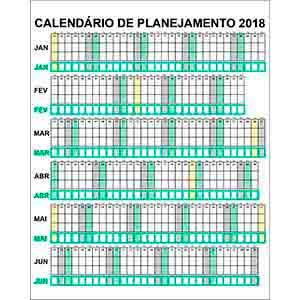 Calendário semestral-vendas de peças para decoração