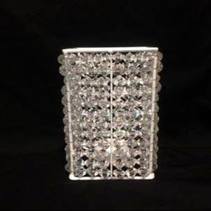 Caixa de cristal p/ arranjo G -vendas de peças para decoração