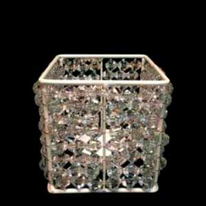 Caixa de cristal p/ arranjo M -vendas de peças para decoração