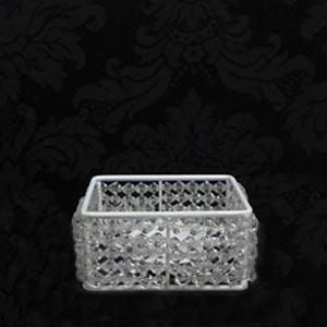 Caixa de cristal p/ arranjo P-vendas de peças para decoração