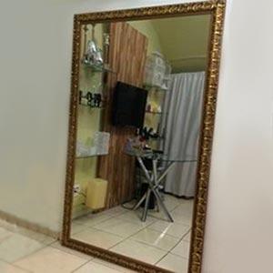 Espelho com moldura G-vendas de peças para decoração