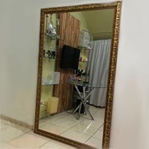 Espelho com moldura M - vendas de peças para decoração