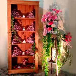 Estante de madeira -vendas de peças para decoração