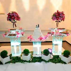 Mesa de vidro 3 tampos-vendas de peças para decoração