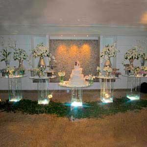 Mesa de vidro 5 tampos - vendas de peças para decoração