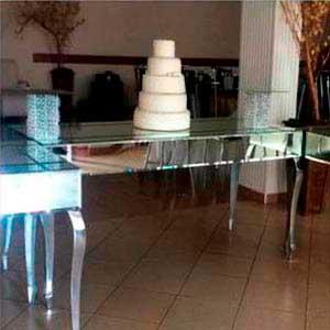 Mesa espelhada (central)-vendas de peças para decoração