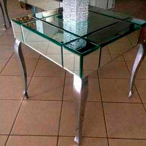 Mesa espelhada (lateral) -vendas de peças para decoração