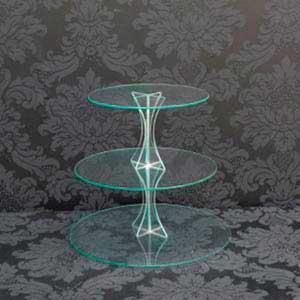Suporte de vidro 3 andares -vendas de peças para decoração