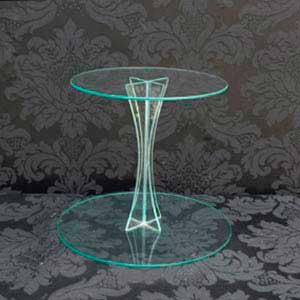 Suporte de vidro 2 andares-vendas de peças para decoração