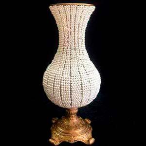 Vaso de pérola bojudo G-vendas de peças para decoração
