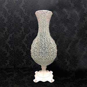 Vaso cristal bojudo M-vendas de peças para decoração