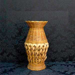 Vaso de palha P-vendas de peças para decoração