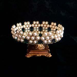 Bandeja de pérola dourada M -vendas de peças para decoração