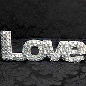 Love de cristal-vendas de peças para decoração