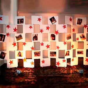 Painel de fotos c/ 6 placas -locação de peças decorativas
