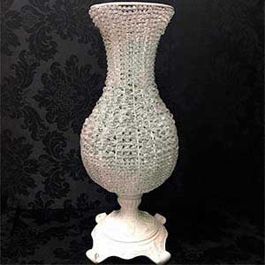 Vaso cristal bojudo G-vendas de peças para decoração