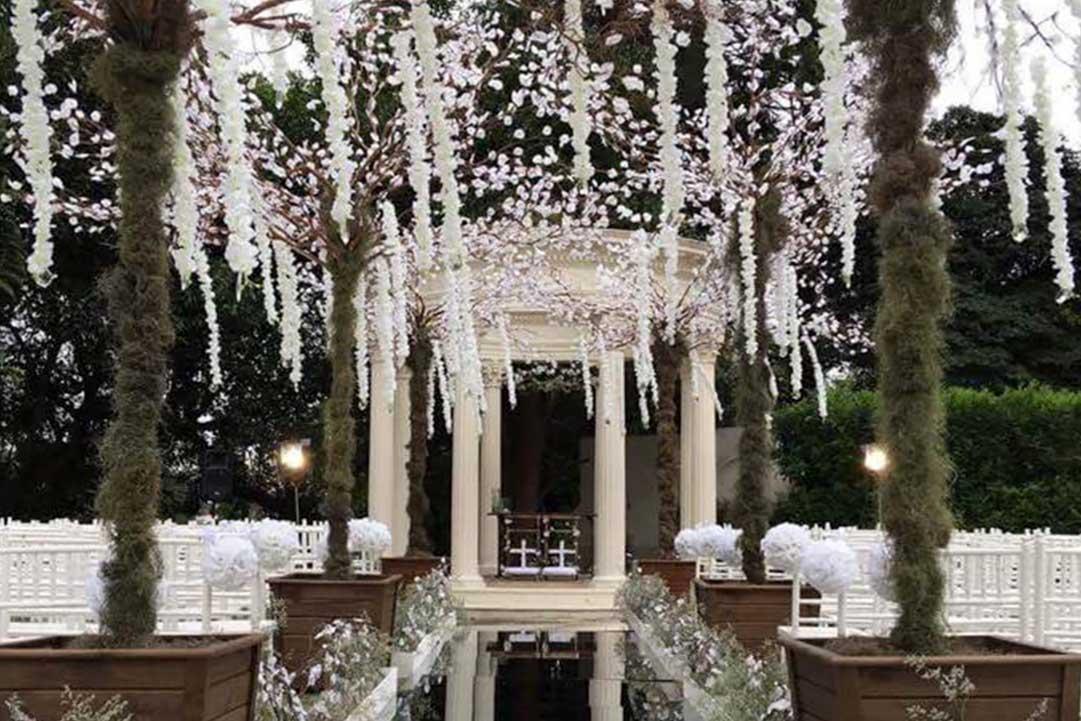 Produção de cenários para festa de casamento - Festejare Decorações