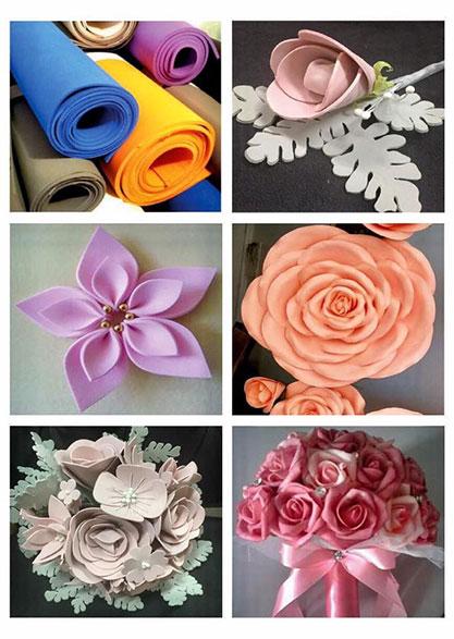 Decorações com flores em EVA - ETAF