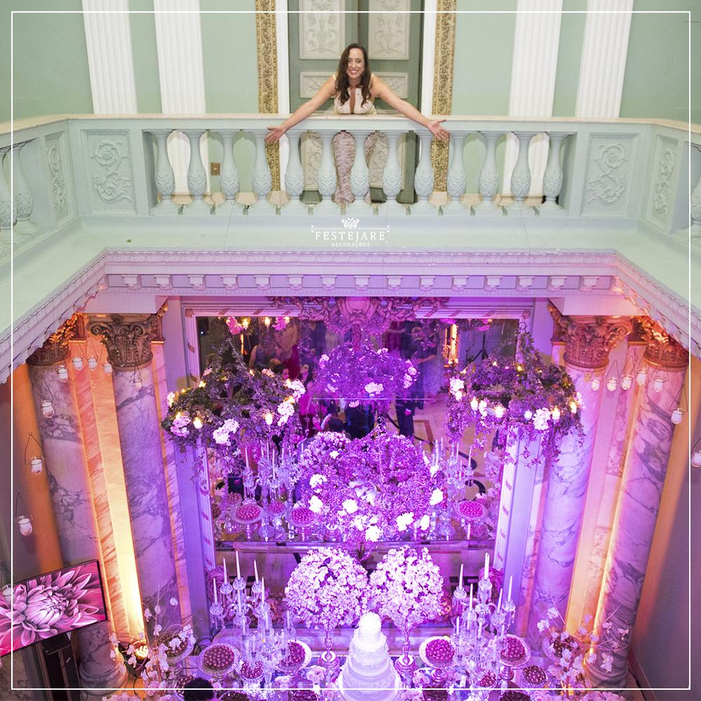 Val du Arte em decoração de casamento no Palácio dos Cedros