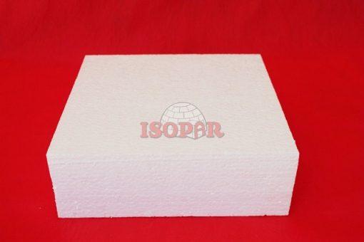 bolo quadrado de isopor