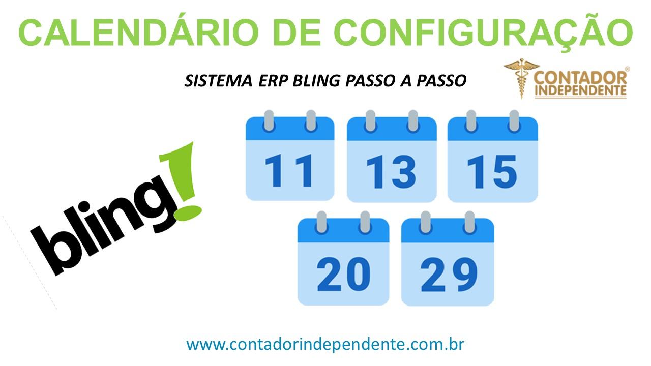 Calendário Configuração Bling