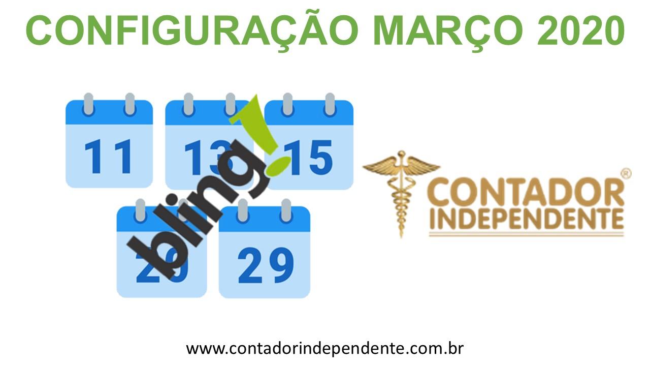 Configuração Bling Março 2020