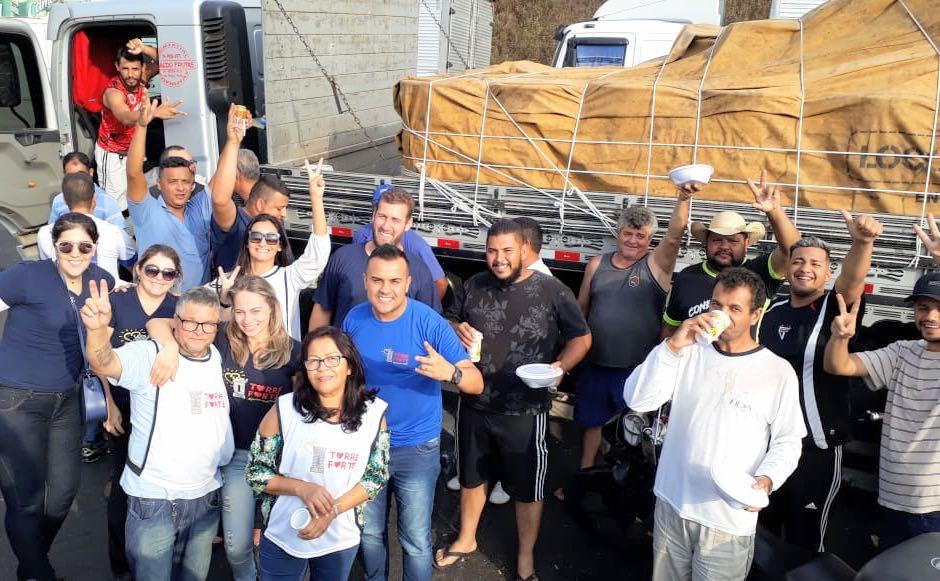 ONG Torre Forte se solidariza com caminhoneiros parados nas rodovias em São Bernardo do Campo