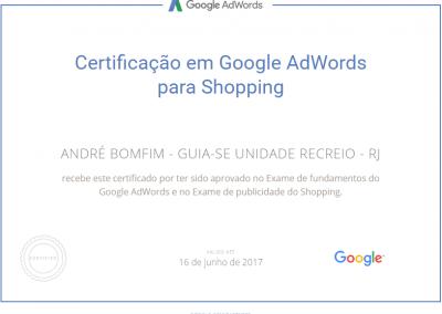 Guia-se Unidade Recreio - Google Adwords - Certificado - Publicidade em shopping
