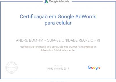 Guia-se Unidade Recreio - Google Adwords - Certificado - Publicidade para celular
