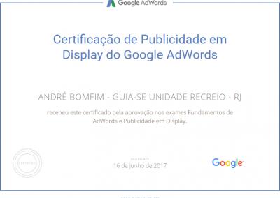 Guia-se Unidade Recreio - Google Adwords - Certificado - Publicidade em display